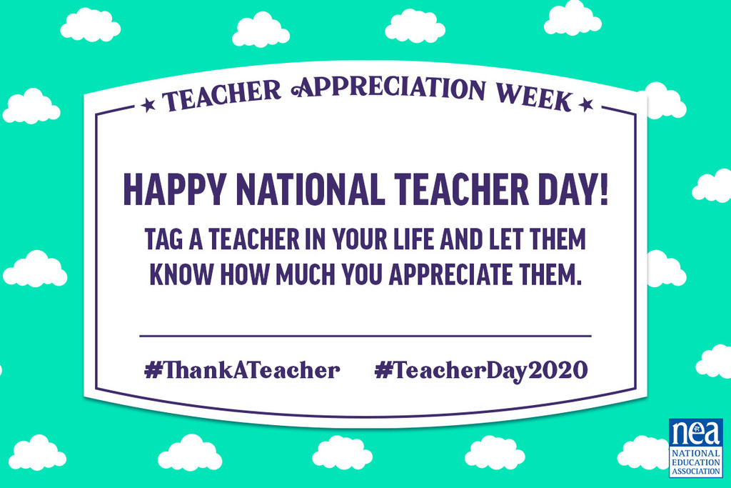 Tag a teacher and tell them how much you appreciate them.