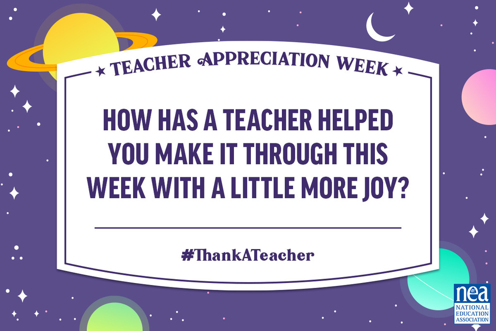 How has a teacher helped you make it through this week with a little more joy?