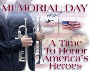 memorial day with soldier with trumpet: a time to honor America's Heroes