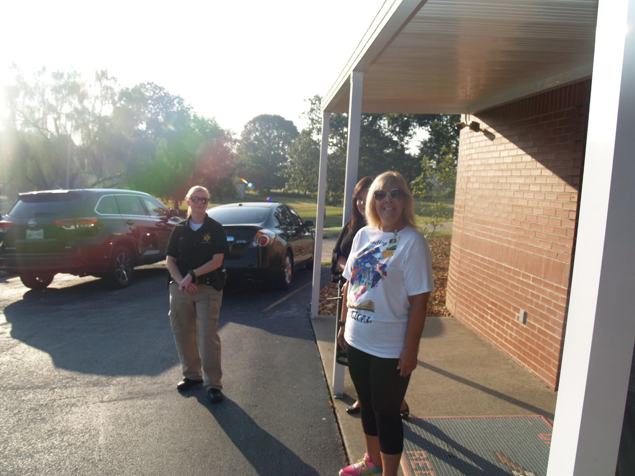 Mrs. Karen and Officer Lauren meet us each morning at UHS
