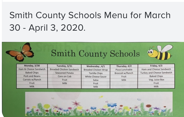 Lunch Menu for Next Week