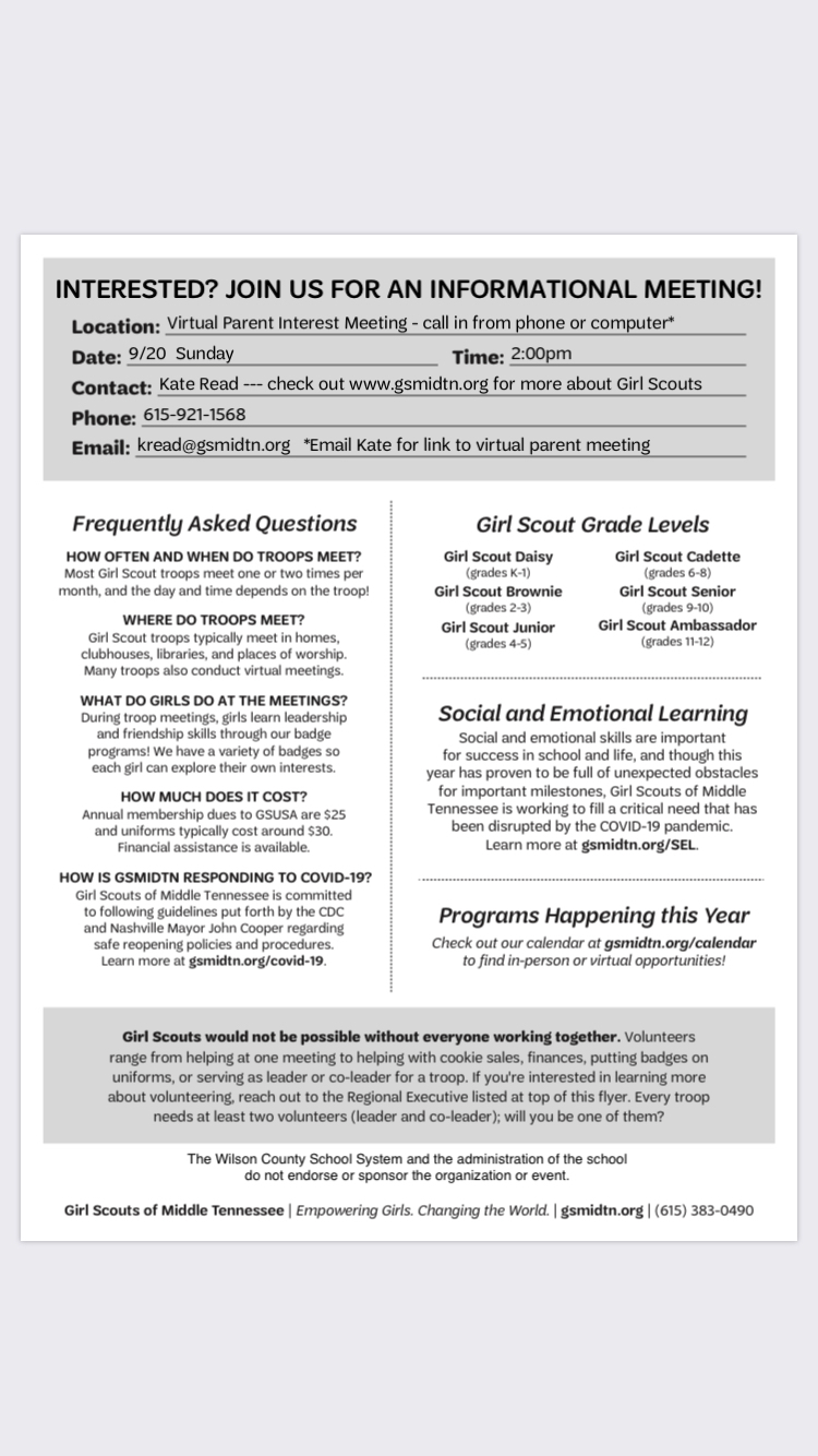 Girl Scout Information